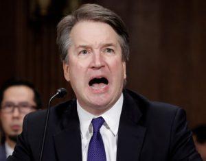 Brett Kavanaugh screaming at the Committee